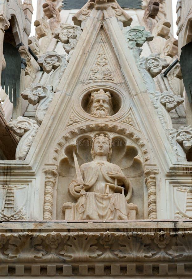 Das Grab von Cansignorio, eins von fünf gotischen Scaliger-Gräbern oder Arche Scaligeri, in Verona, lizenzfreie stockfotografie