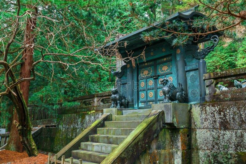 Das Grab von Tokugawa Ieyasu in Tosho-GU-Schrein in Nikko, Japan lizenzfreie stockbilder
