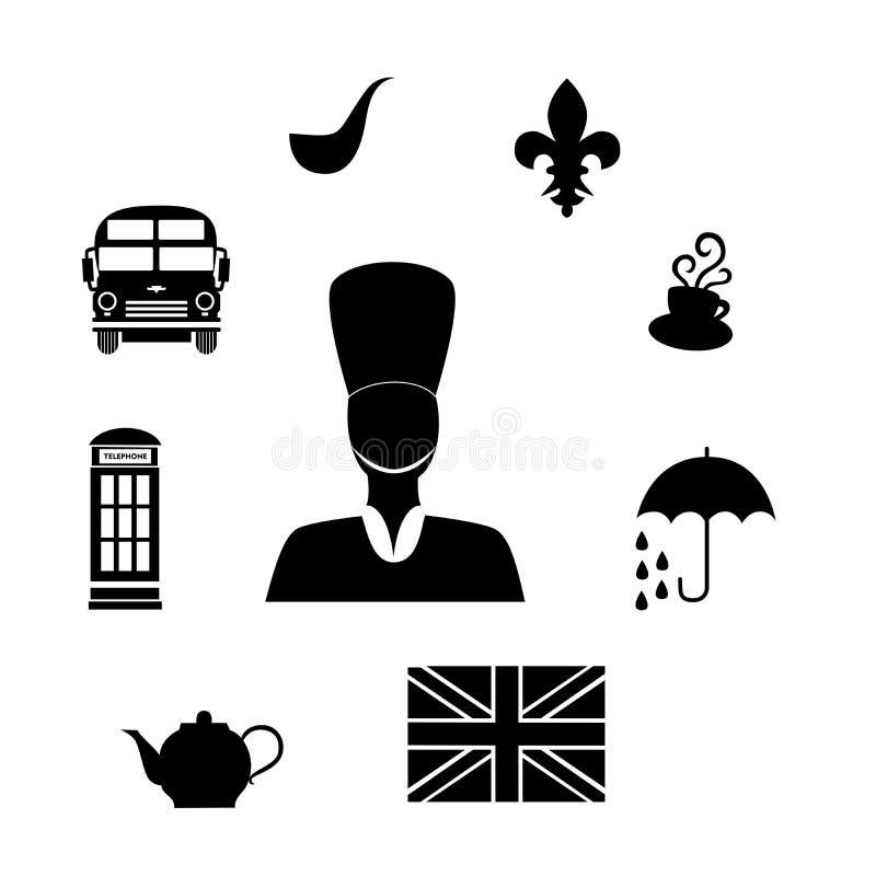 Das Großbritannien-Schwarze lizenzfreie abbildung
