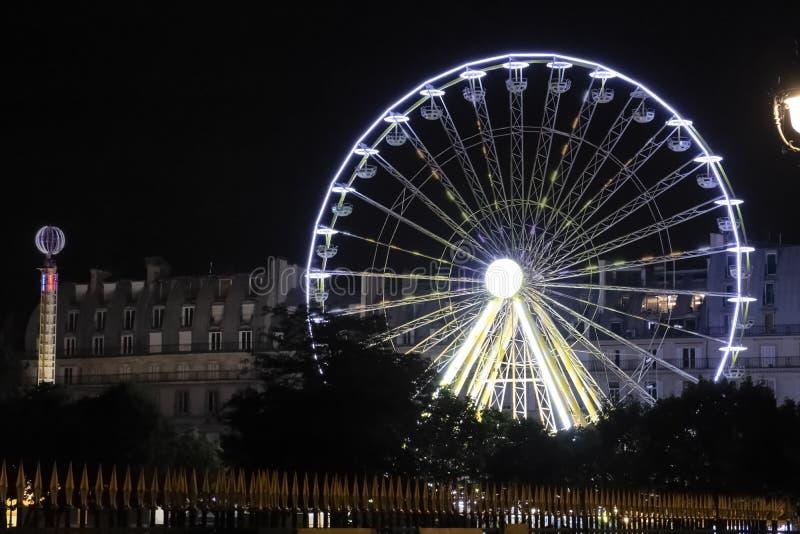 Das große Rad auf Place de la Concorde lizenzfreies stockbild