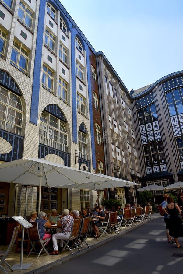 Das Hackesche Hofe in Berlin Capital-Stadt von Deutschland lizenzfreies stockbild