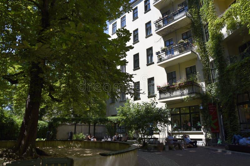 Das Hackesche Hofe in Berlin Capital-Stadt von Deutschland stockbilder