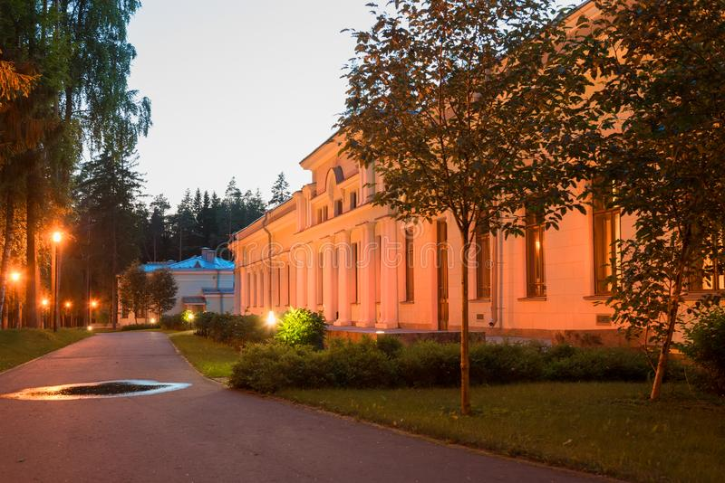 Das Hauptgebäude von Stalin-` s Datscha in Valdai lizenzfreie stockbilder