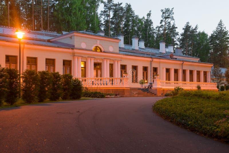 Das Hauptgebäude von Stalin-` s Datscha in Valdai lizenzfreies stockfoto