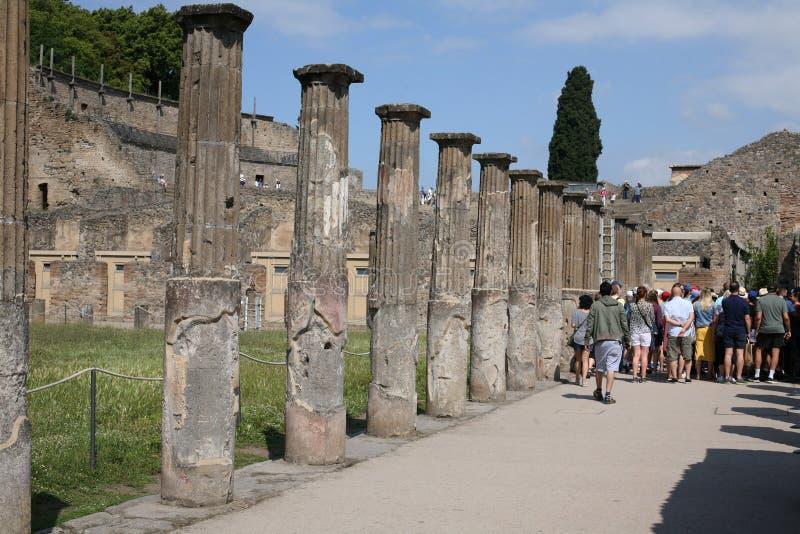 Das Haus der Gladiatoren an Pompeji-Ruinen in Italien lizenzfreie stockbilder