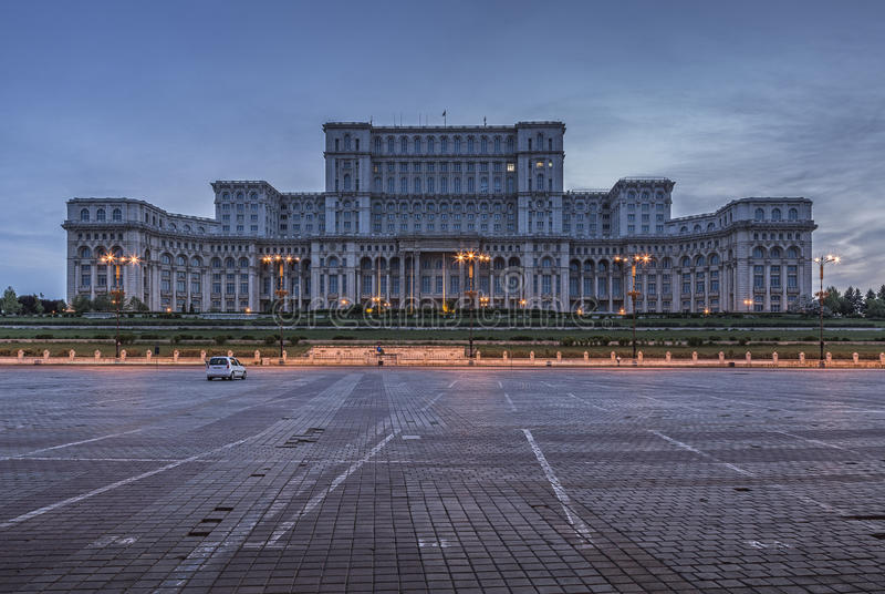 Das Haus der Leute, Bukarest, Rumänien stockbild