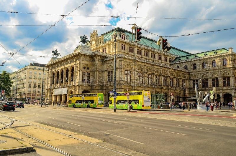 Das Haus der Wiener Staatsoper, Österreich stockbilder
