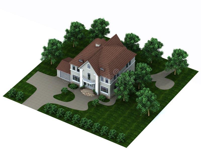Das Haus mit einer Site stock abbildung