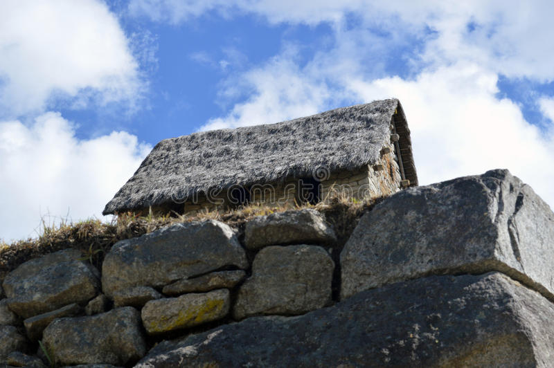 Das Haus nahe zu Machu Picchu stockfoto
