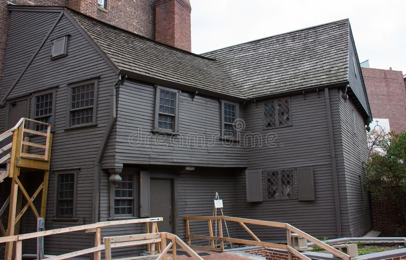 Das Haus von Paul Revere lizenzfreies stockfoto