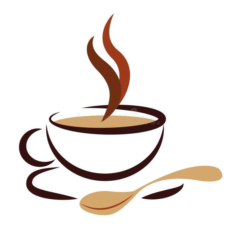 Das Heiße Getränk Stellt Besten Kaffee Und Café Dar Stock Abbildung ...