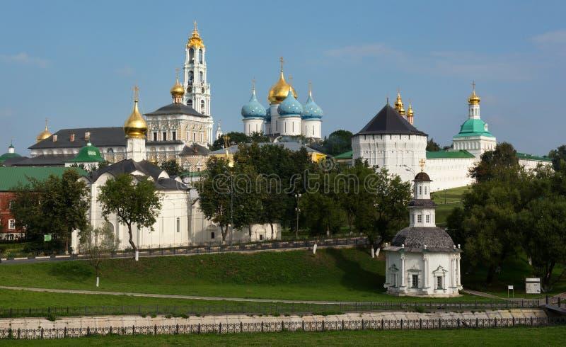 Das heilige Dreiheit-St. Sergius Lavra, Russland stockbild
