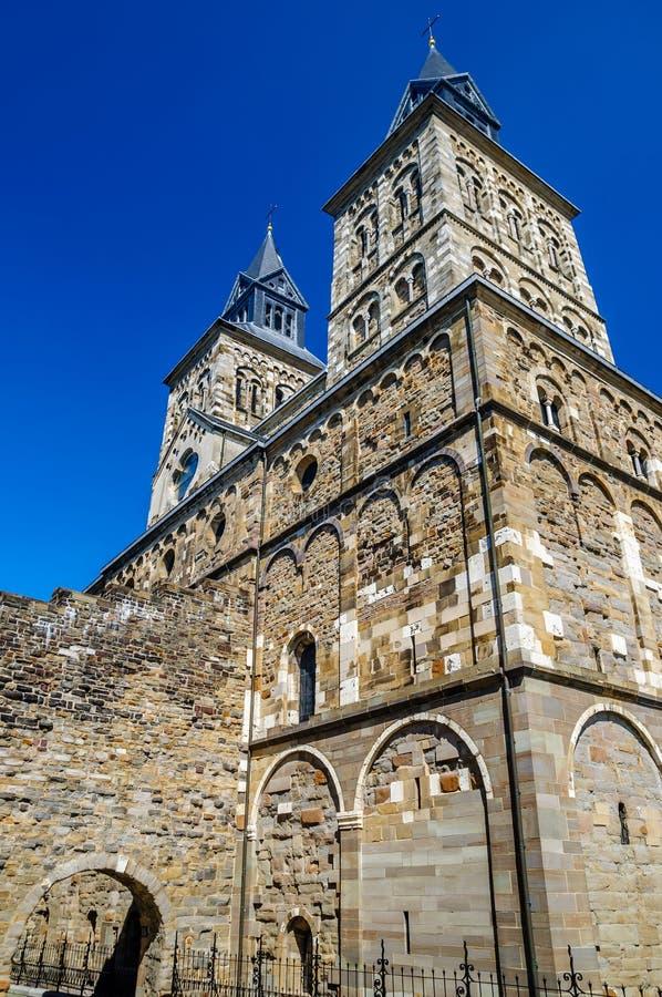 Das Heilige Servatius Basilica von Masstricht lizenzfreies stockbild
