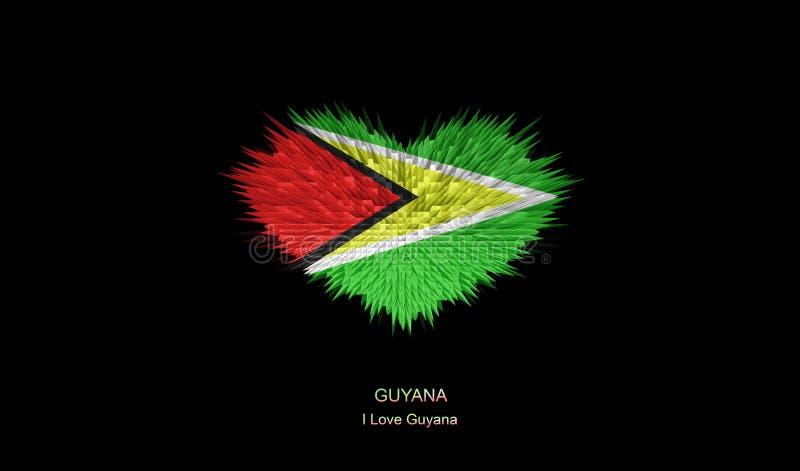 Das Herz von Guyana-Flagge vektor abbildung
