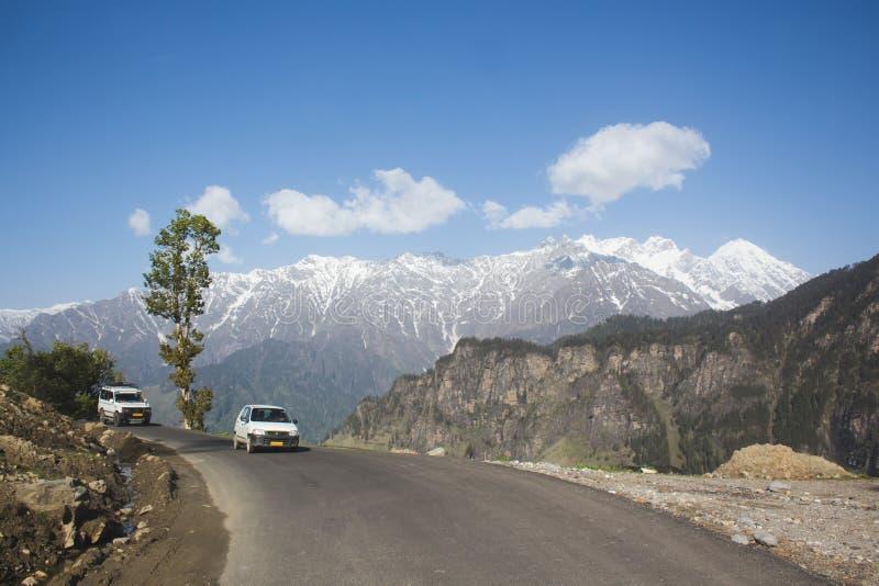 Das Himachal-jouney mit Erregung stockbilder