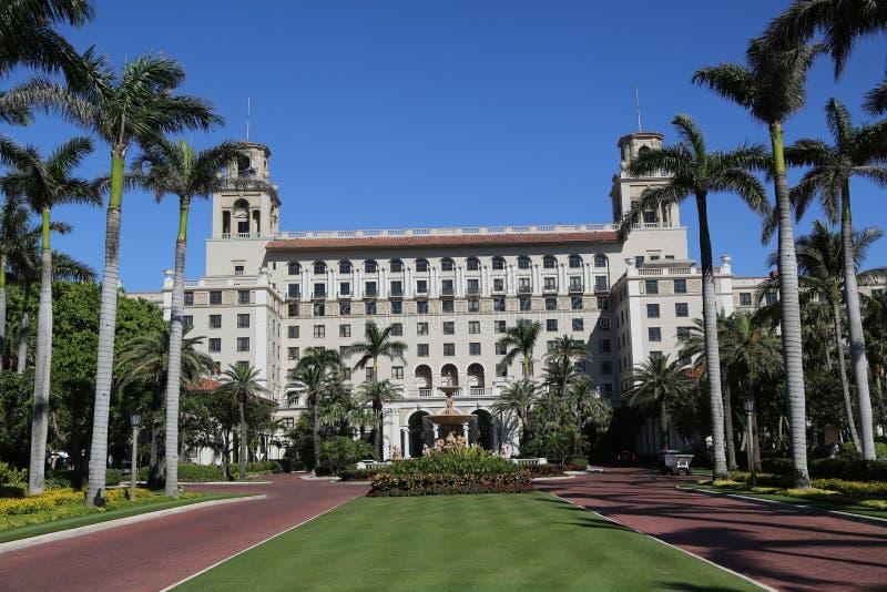 Das historische Hotel des Unterbrecher-Palm Beach stockfoto