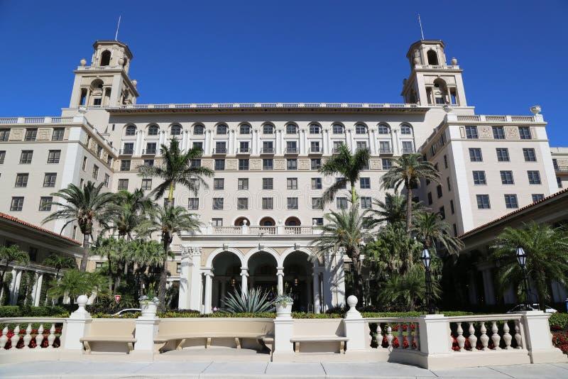 Das historische Hotel des Unterbrecher-Palm Beach stockbilder