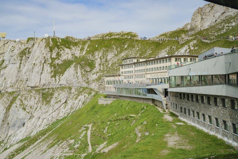 Das historische Hotel Pilatus Bellevue des Bergs Pilatus lizenzfreie stockfotos