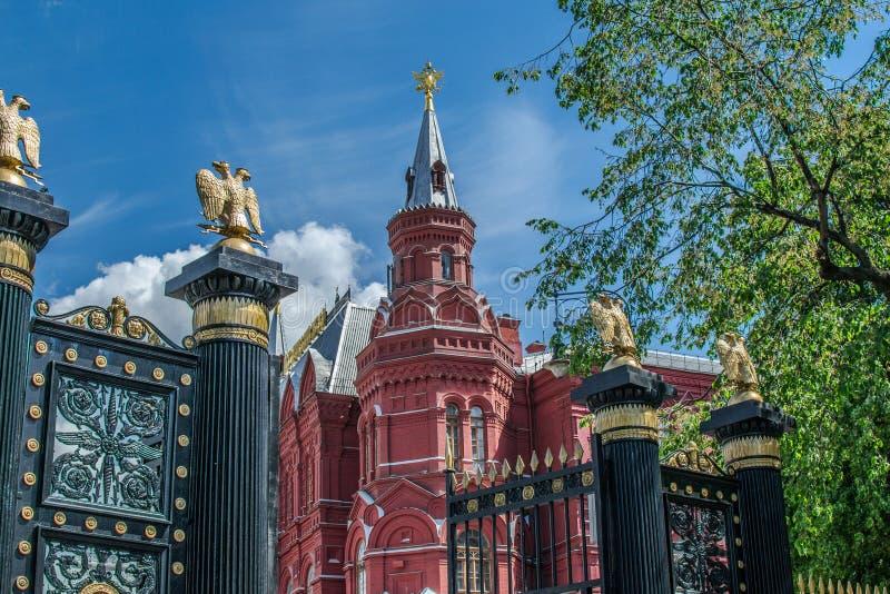 Das historische Museum in Moskau stockfotografie