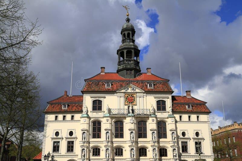 Das historische Rathaus von Lueneburg lizenzfreies stockbild