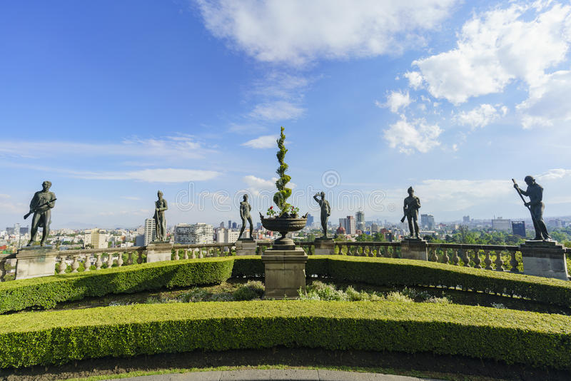 Das historische Schloss - Chapultepec-Schloss stockbilder