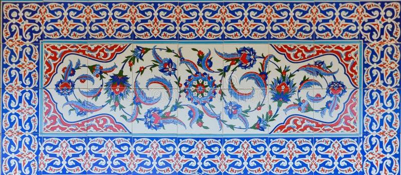 Das historische Türkische - Osmanefliesen lizenzfreie stockfotos
