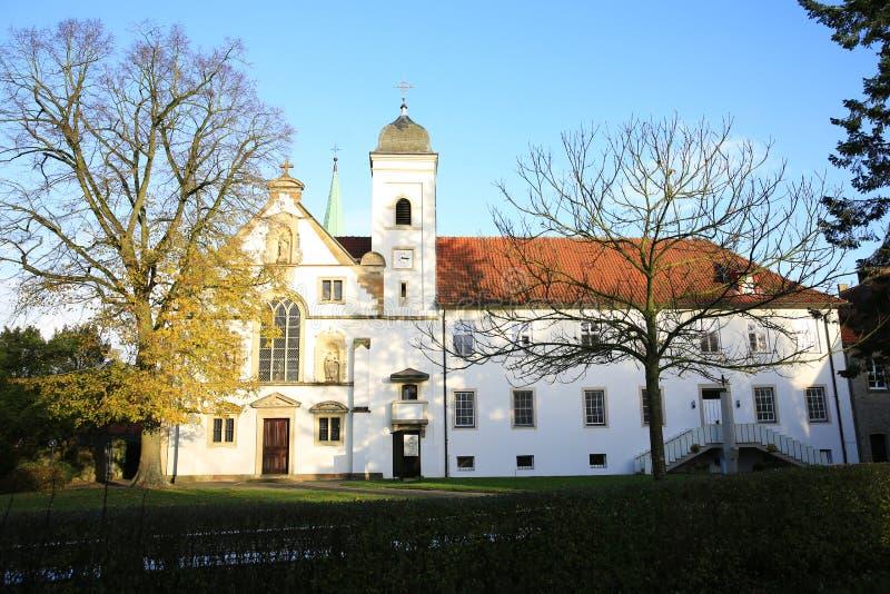 Das historische Vinnenberg Monastry nahe Warendorf, Nordrhein-Westfalen, Deutschland lizenzfreie stockbilder