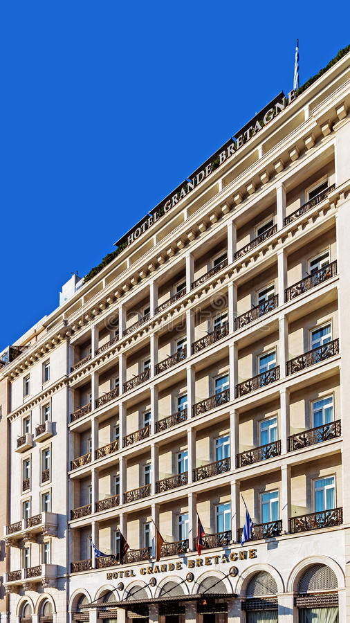 Das Hotel großes Bretagne stockbilder