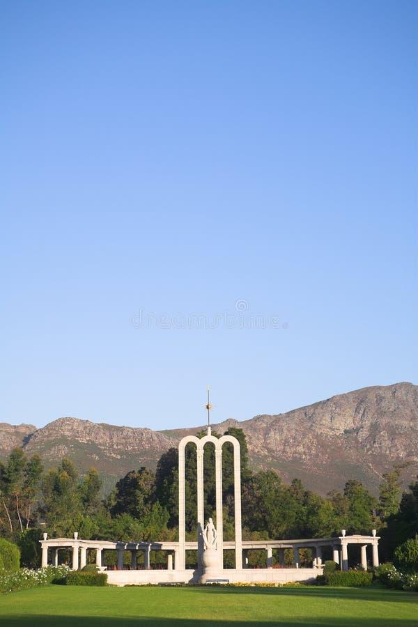 Das Huguenot Denkmal lizenzfreie stockfotografie