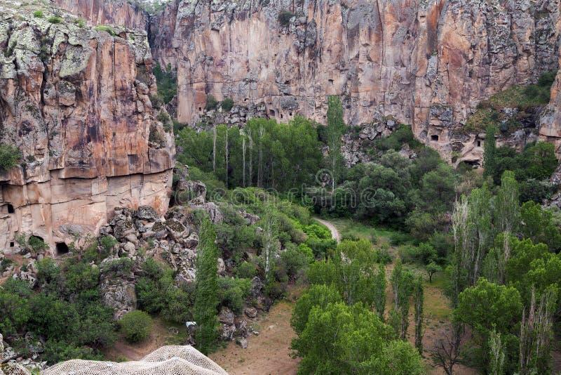 Das Ihlara-Tal in Cappadocia - der Türkei lizenzfreie stockfotografie
