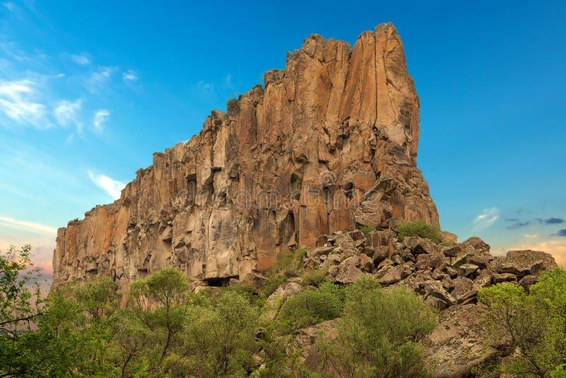 Das Ihlara-Tal in Cappadocia die Türkei stockbild