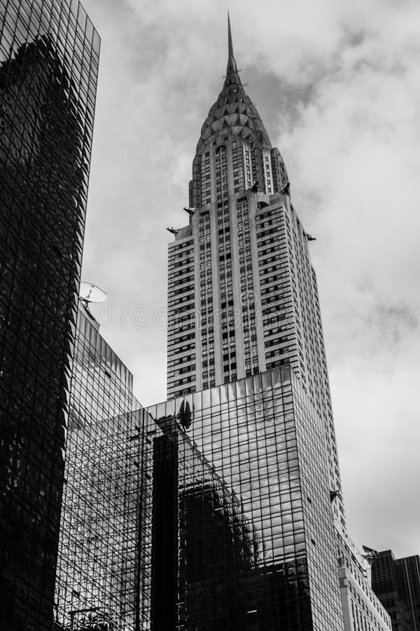 Das ikonenhafte Chrysler-Gebäude in Manhattan, New York City, USA stockbild