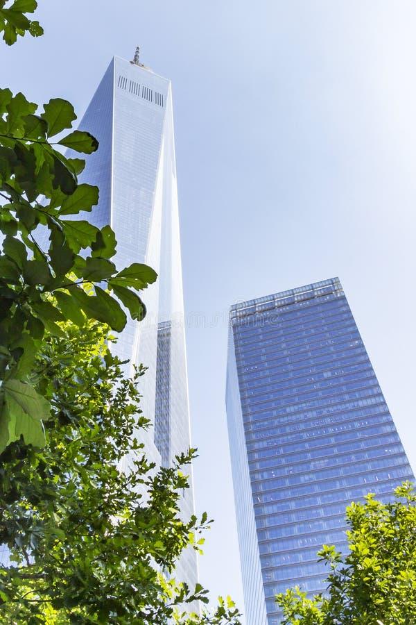 Das imponierende Gebäude von einer Wold-Handels-Mitte in New York, USA lizenzfreie stockfotografie