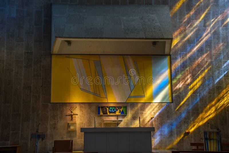 Das Innere der Kirche f?r den Pastor und Pastor stockfotos