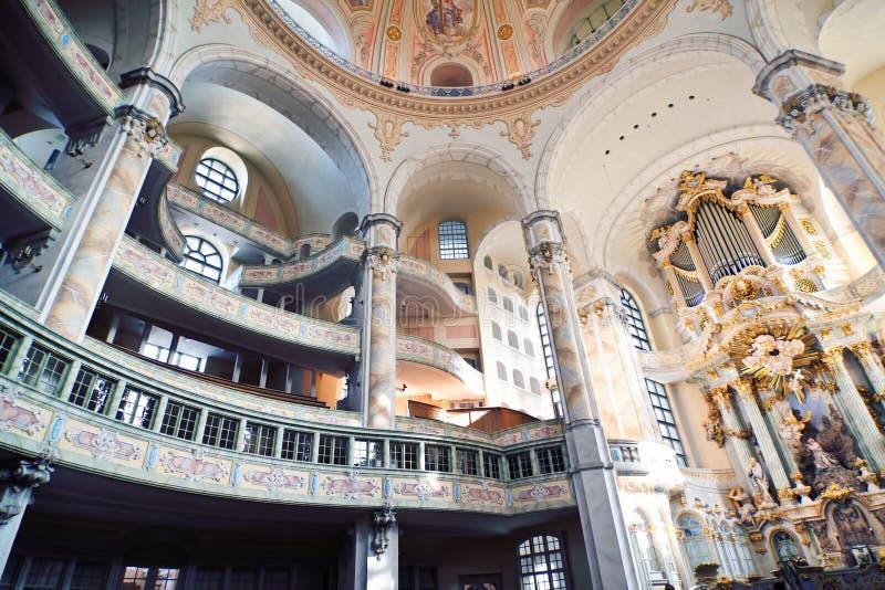 Das Innere von Frauenkirche stockfotografie