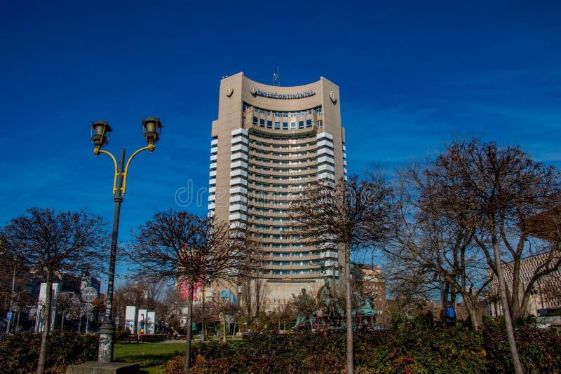 Das Interkontinentalhotel in Bukarest Rumänien lizenzfreies stockbild