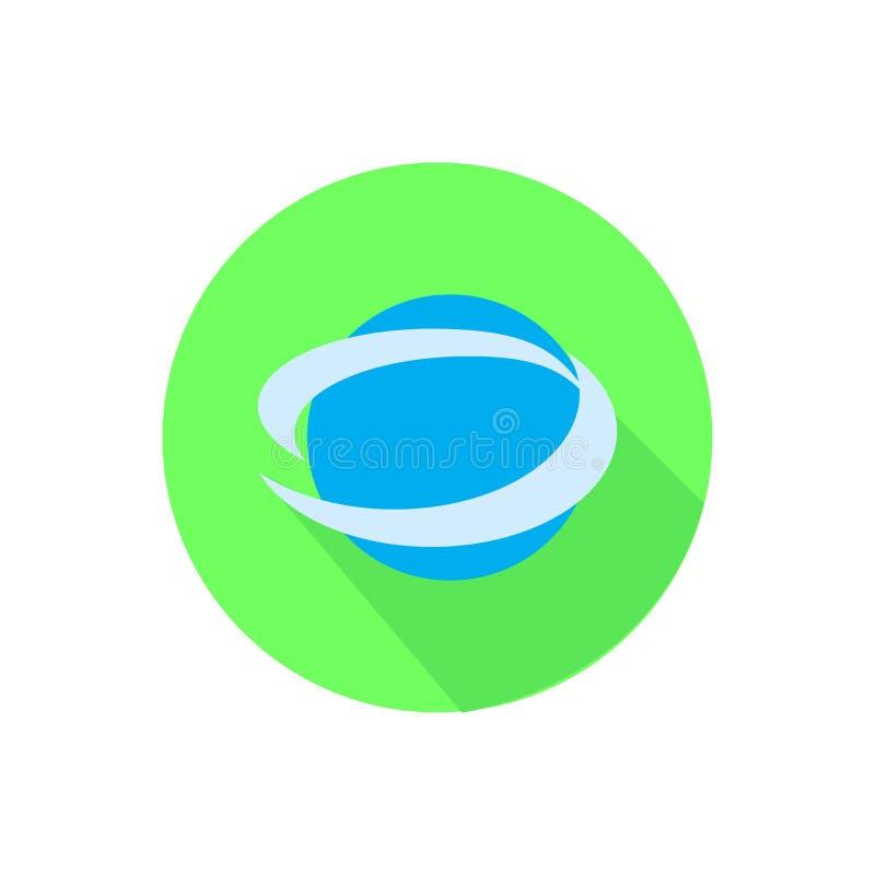 Das Internet auf einem Weiß in einem hellen Kreis vektor abbildung