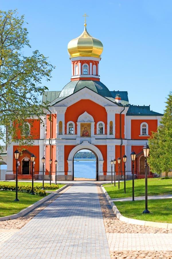 Das Iversky Kloster stockbild