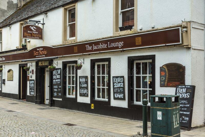 Das Jacobite-Lounge Bar-Restaurant Fort William Scotland stockbilder