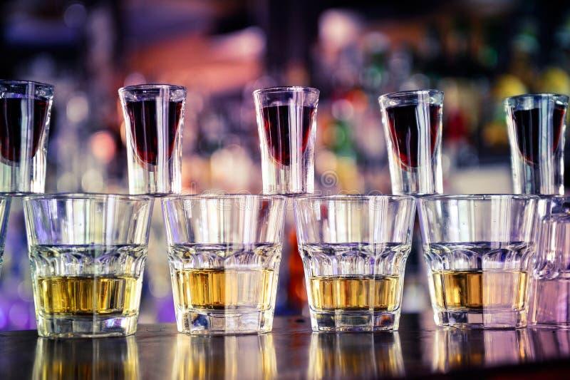 Das Jagerbomb-Cocktail lizenzfreies stockbild