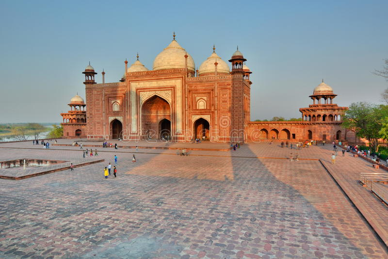 Das Jawab Taj Mahal Agra, Uttar Pradesh Indien stockbilder