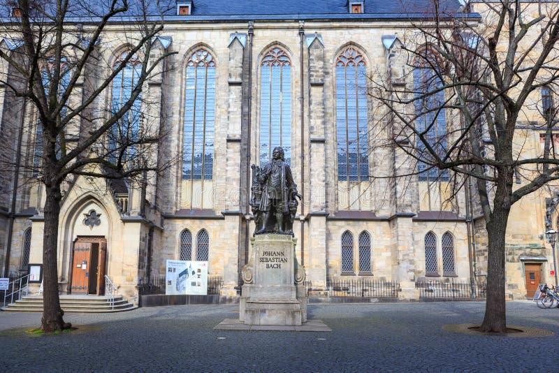 Das Johann Sebastian Bach-Monument von Leipzig stockbild