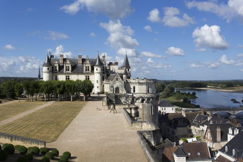 Das königliche Chateau in Amboise lizenzfreie stockfotos