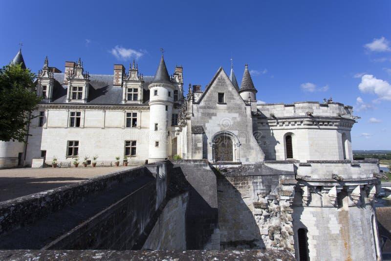 Das königliche Chateau in Amboise stockfoto