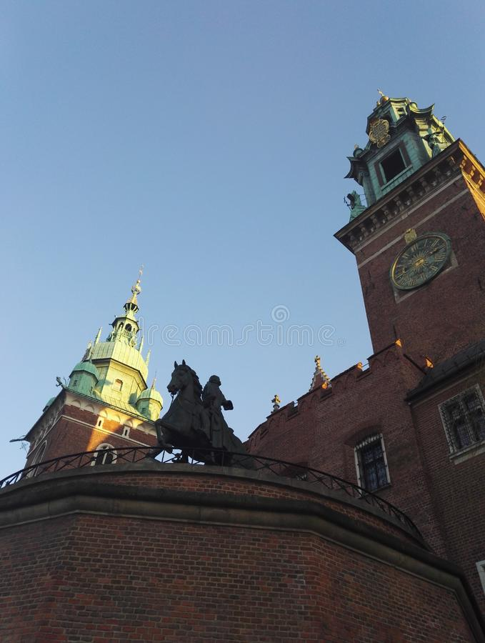 Das königliche königliche Schloss Sigismund Wawel, Krakau, Polen stockfoto