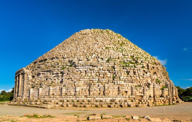 Das königliche Mausoleum von Mauretanien in Algerien lizenzfreies stockfoto
