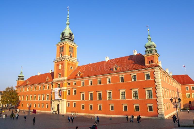 Das Königliche Schloss in Warschau stockbild