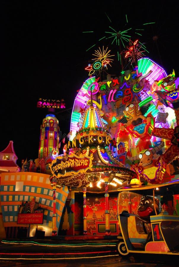 Das Karnevalsdorf stockfotos