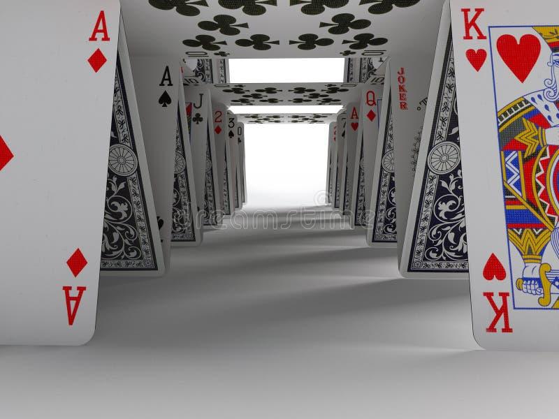 Das Kartenhaus lizenzfreie abbildung
