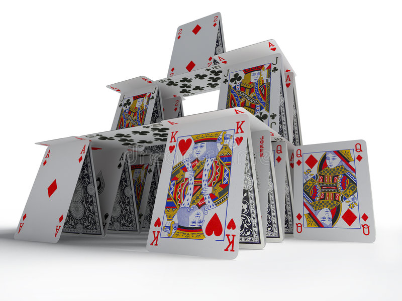 Das Kartenhaus stock abbildung